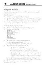 thumbnail of ComplaintProcedureAlbert House