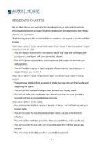 thumbnail of Albert House Residents Charter